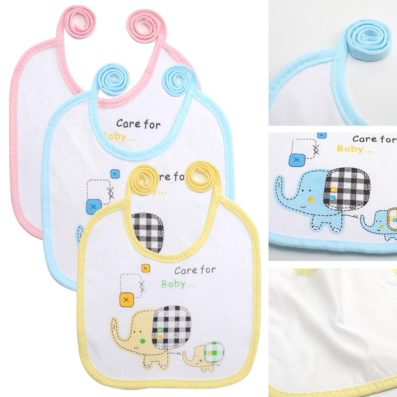 Cute Baby Soft Silicone Bib Waterproof Saliva Dripping Kid Infant Lunch Bibs ~PA