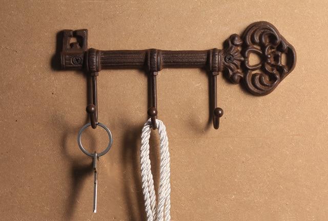 Vintage Decoration Creative Coat Hooks Metal Key Hook Wall The