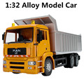 1:32 alloy car model, simulation dump trucks, high-grade ornaments,Diecasts & Toy Vehicles, shipping, special