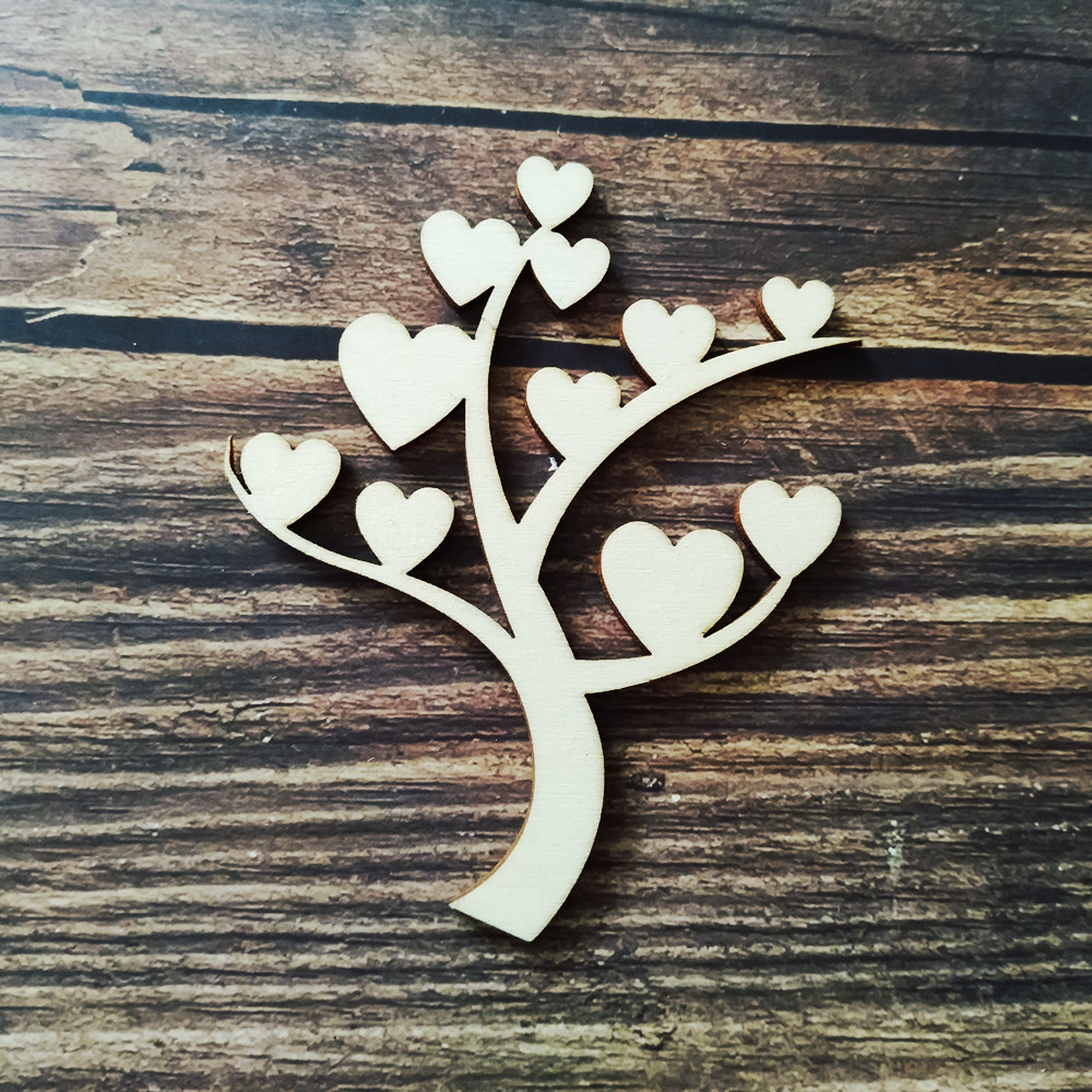 Wooden Family Tree Craft Kit 6 designs blank embellishment scrapbook card gift