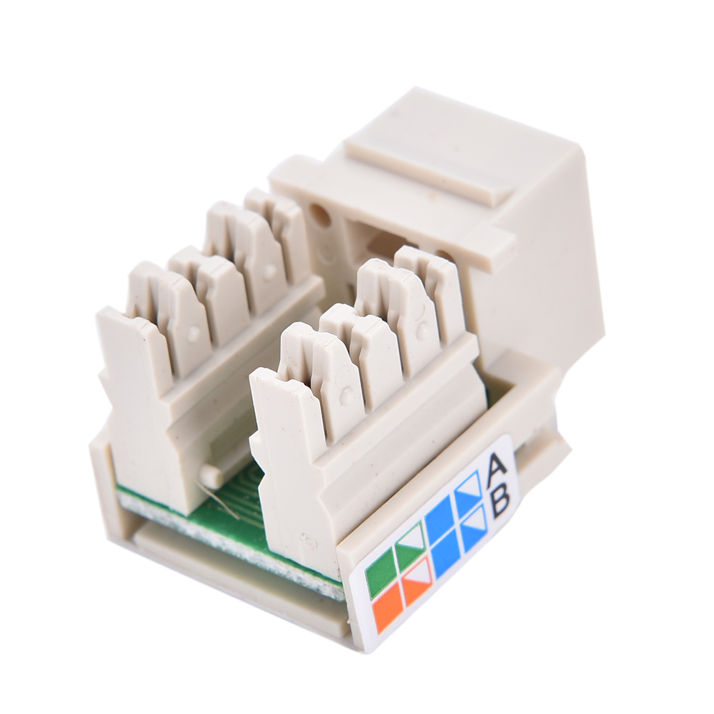 Rj45 Punch Down Keystone Jack Cat5 Network Ethernet White 3cm X Cat 5 Wiring Diagram Wall Prise 2cm Cat6 In Computer Cables Connectors From