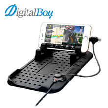 Digitalboy Car Phone Holder Mobile Pad Adjustable Bracket Stand for iPhone 6s Samsung xiaomi Car Mount Holder+USB Cable Charging