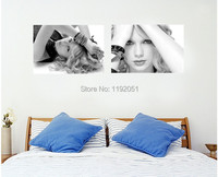 frameless painting poster portrait canvas painting black and white picture beauty singer fashion modern decorative art