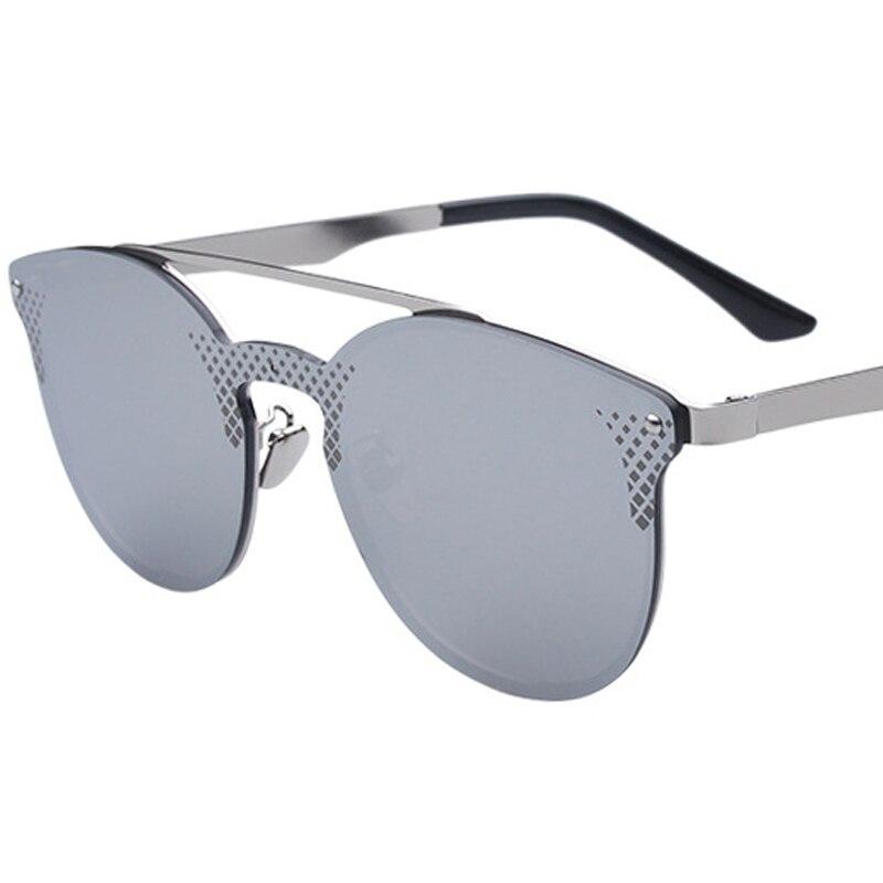 MINAKOLIFE  Mirrored Sunglasses Round Circle Sun glasses Retro Vintage Sun glasses oculos de sol GL-5350