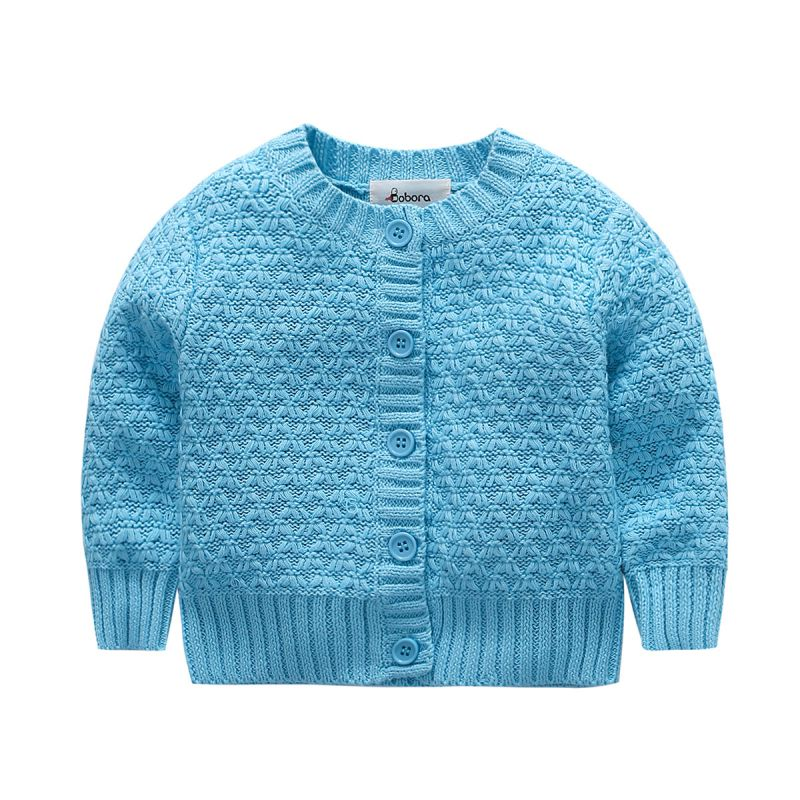 Special Section Fashion Autumn Sweaters Baby Boys Girls Long Sleeve Knitted Sweater With Button Kids Tops And To Have A Long Life.