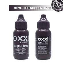 oxxi Latest 30ml Nail Rubber Base Coat Nipple Bottle Soak off Semi Permanent UV Gel Varnish For Art Top Gellak