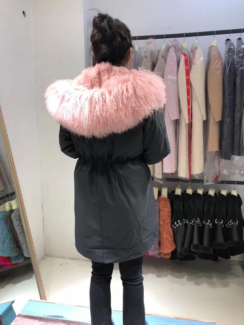 Parent-childs natural fur parkas with hood (31)