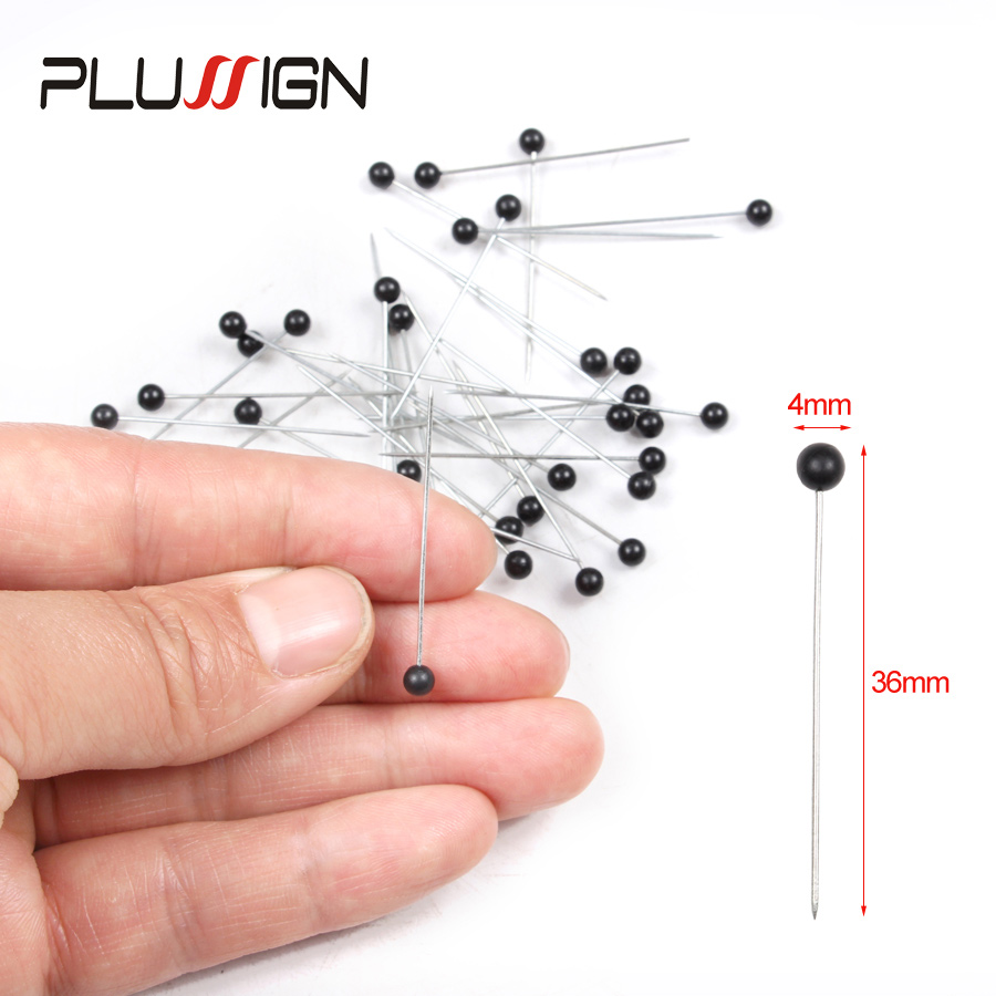 Plussign Pearl Sewing Pins Ball Head Pins For Dressmaking Jewelry Components Flower Decoration With Transparent Cases 50Pcs