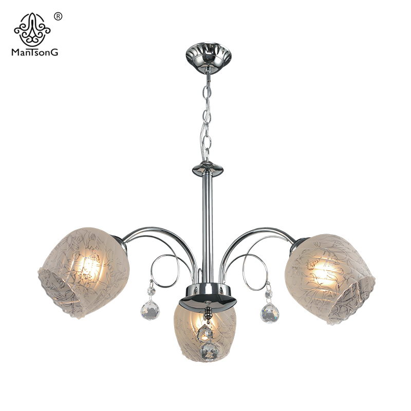 Flower Crystal Pendant Lamp For Living Room Classical Glass Lights 3/5 Heads Home Lighting Vintage Pendant Lamps Luminaire white crystal pendants chandeliers lights vintage pendant lamp for living room bedroom europe style pendant lamps home lighting