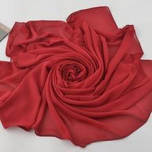20 pcs Plain Solid Colors Large Size Square pearl bubble chiffon hijab scarf spring wrap muslim 12 color scarves/scarf