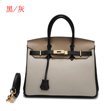 New genuine l leather female bag top layer cowhide color lychee platinum bag handbag fashion trend diagonal shoulder bag fashion leather handbags big bag top layer leather handbag ladies shoulder bag platinum bag tide