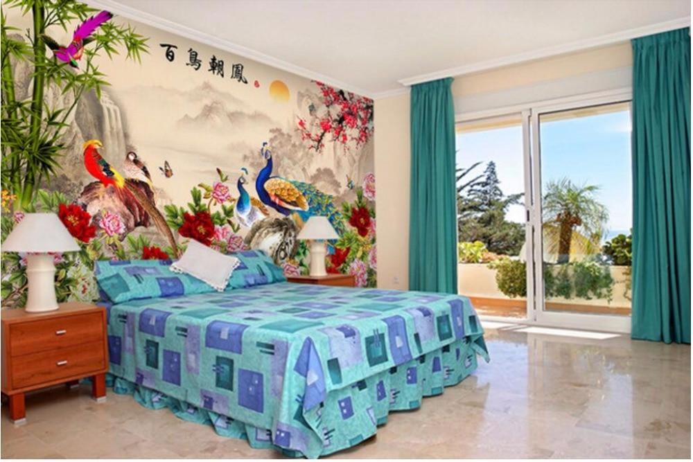Купить с кэшбэком Custom mural 3d wallpaper Chinese Bird collection Flowers bloom painting 3d wall murals wallpaper for living room walls 3 d