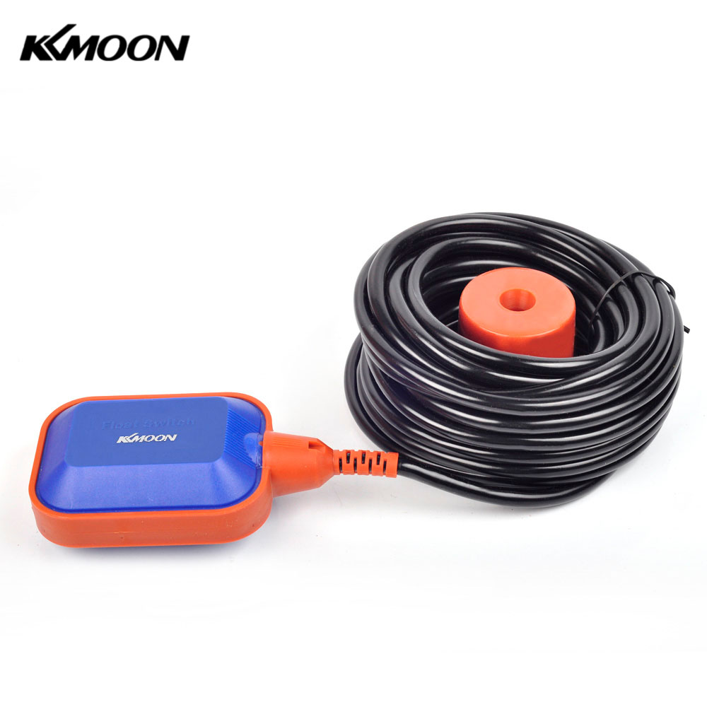 KKMOON 15m Automatic Square Float Switch High Quality water level Sensor Liquid Fluid Level Controller for Water Tank Tower pool 4a 8a level float switch pp water level control for water pump water tower tank normally closed