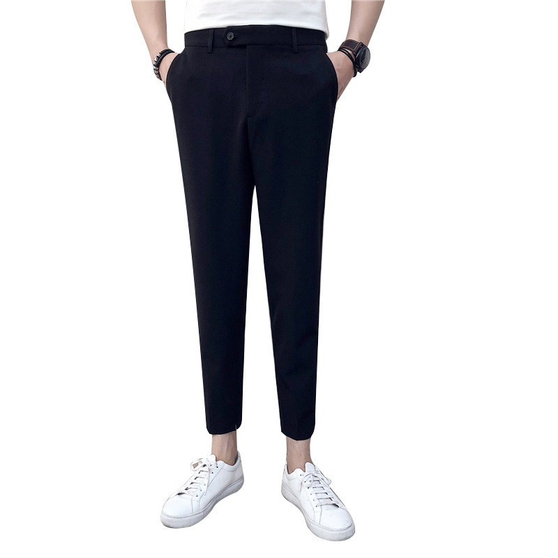 Summer Trend Leisure Time Micro Cross Western-style Trousers Fashion Bound Feet Nine Part Pants city boy Free shipping letter