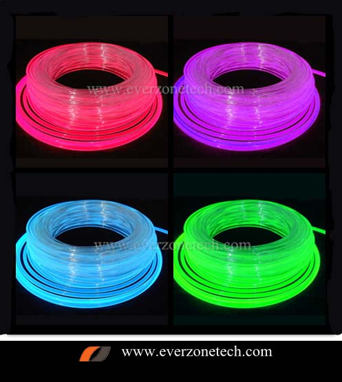 2mm Solid Core Side Glow Fiber Optic LED Light Cable for Interior Lighting Decoration 100m
