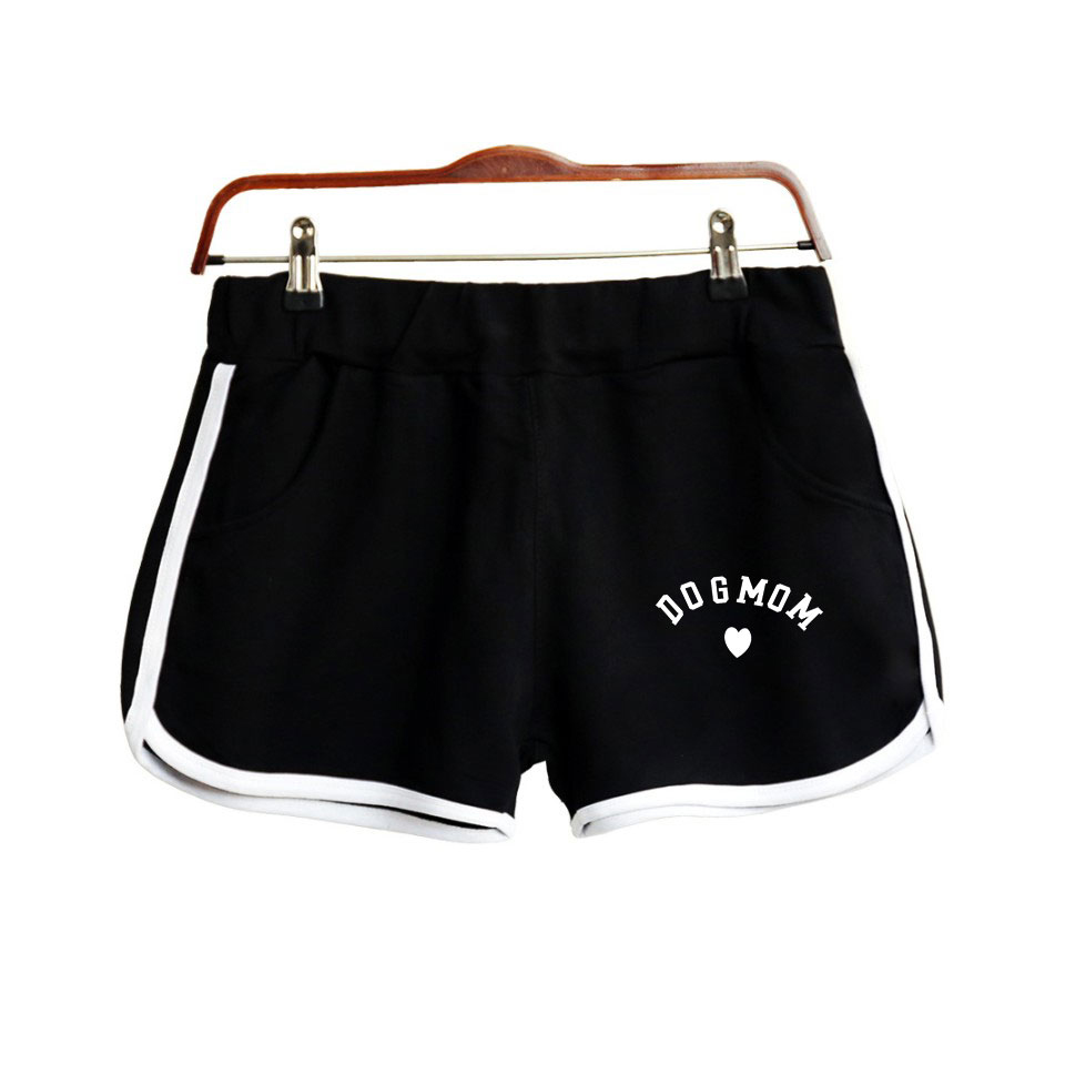Frdun Tommy Dog Mom Short Pants Women Casual Cotton Short Femme Fashion Contrast Elastic Waist Summer Kpop  Shorts Xs-2xl