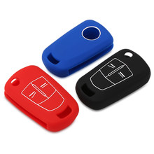 2/3 Buttons Silicone Key Cover Fob Case for Vauxhall Opel Corsa Astra Vectra Signum Remote Flip Folding Car Key Shell(China)