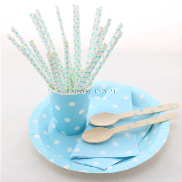 Event Party Supplies Disposable Blue Party Tableware Paper Plates Party Paper Straws Napkins Cups Wooden Spoons  sc 1 st  AliExpress.com & Event Party Supplies Disposable Blue Party Tableware Paper Plates ...