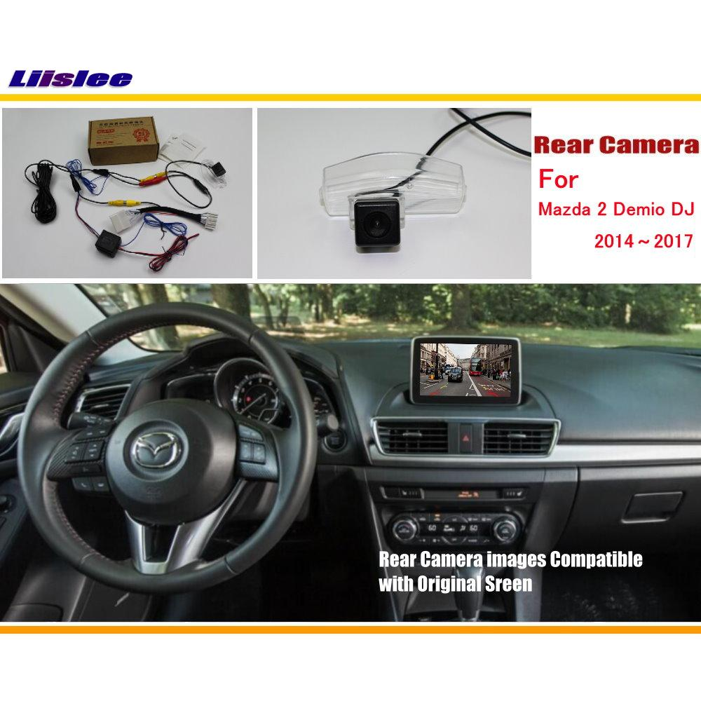 Liislee voor Mazda 2 Demio DJ 2014 ~ 2017 RCA & originele scherm - Auto-elektronica