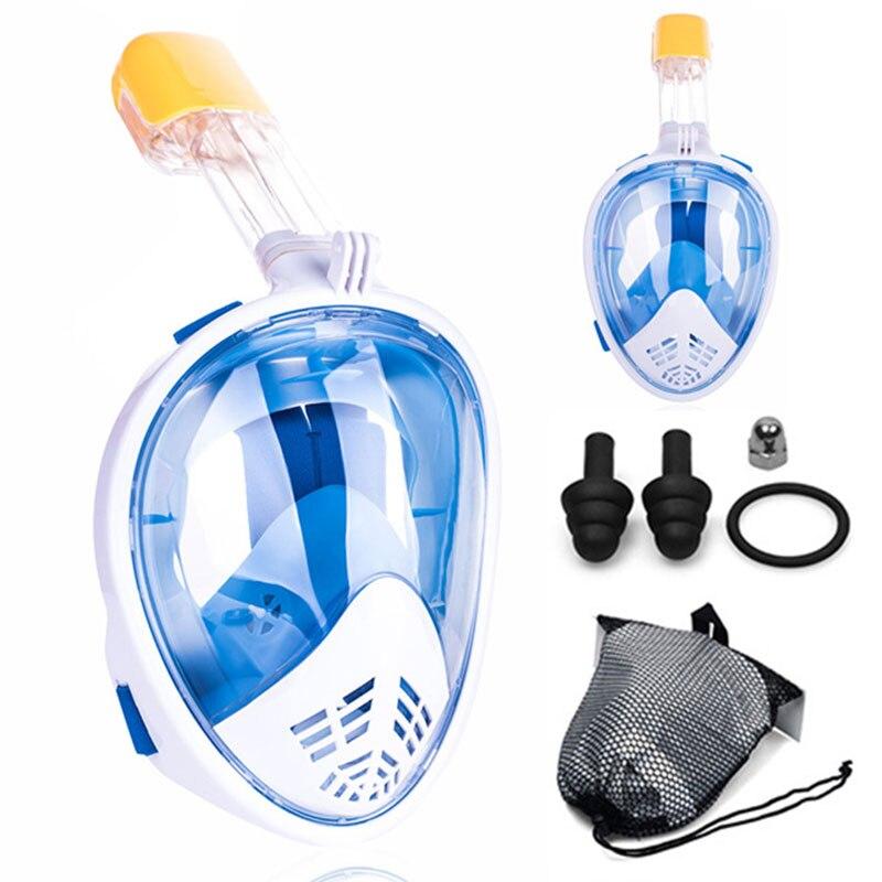 【Hot】Diving Mask Underwater Scuba Anti Fog Full Face Snorkeling Mask Women Men Kids Swimming Snorkel Diving Equipment