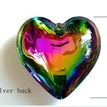 10 шт./лот 45 мм Радужный цветной кристалл сердце Suncather люстра часть призмы кулон