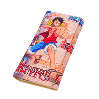 2017 New Arrival One Piece Long Cartoon Japanese Mens Wallets Luffy Anime Boys Leather Purse Money