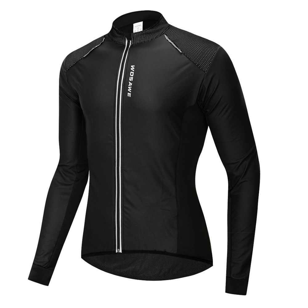 WOSAWE 自転車冬熱ジャケットウォームアップ防風防水 MTB マウンテンバイクジャージ男性女性ウインドブレーカーサイクリング布