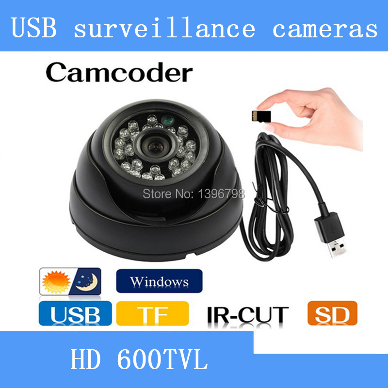 HD Security Dome camcorder IR CCTV Camera Video Night Vision Auto Car Driving record Recorder DVR USB Tf Card 8/16 GB