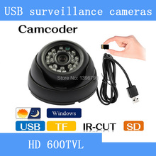 HD Security Dome camcorder IR CCTV Camera Video Night Vision Auto Car Driving record Recorder DVR USB Tf Card 8/16 GB