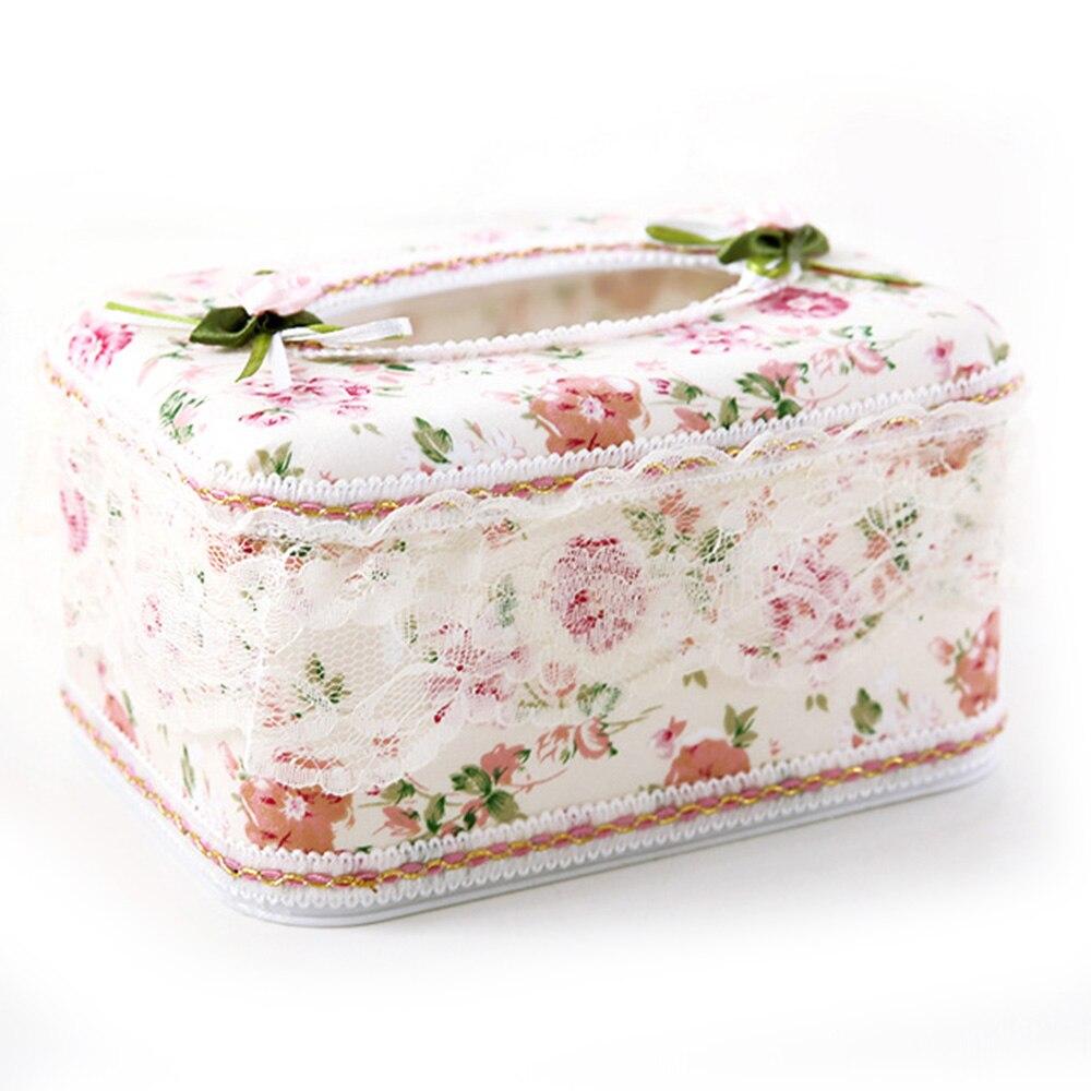Бумага Полотенца держатель, коробка для салфеток крышки коробки из папиросной бумаги стол автомобили Высококачественный кружевной+ Пластик класса люкс - Цвет: 1