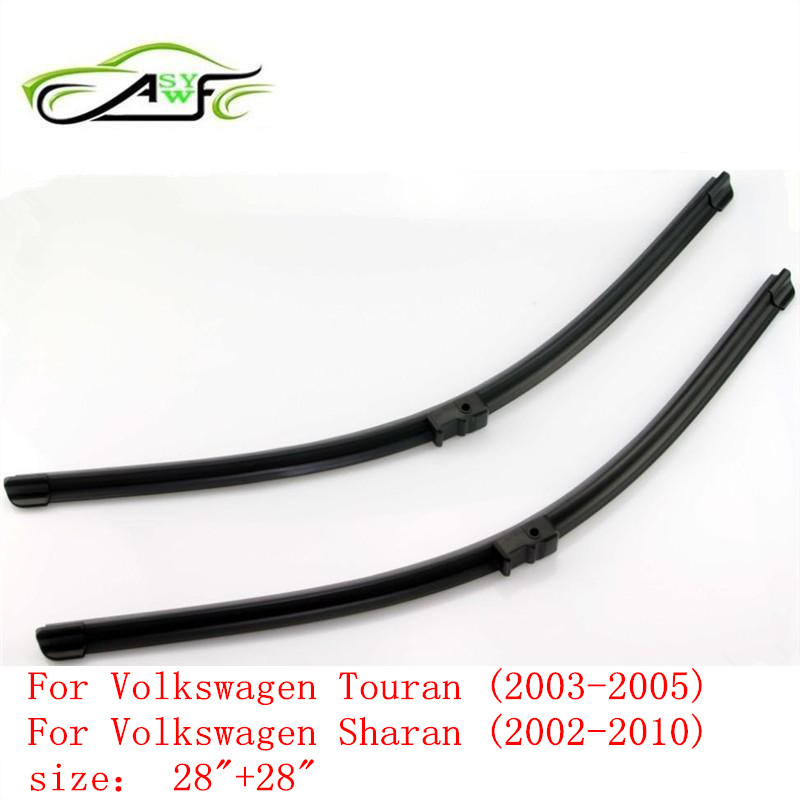 Free shipping car wiper for Volkswagen Touran (2003-2005) and VW Sharan (2002-2010) 28+28 fit side pin wiper arms