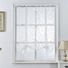 Kitchen curtains jacquard roman blinds floral PU27