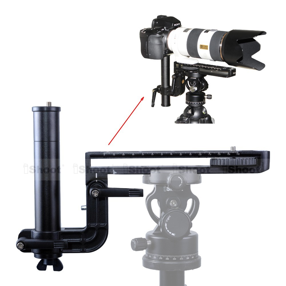 Telephoto Lens Bracket Long-Focus Long-Zoom Support with 20cm Quick Release Plate for Arca Fit Tripod Ballhead Nikon Sony Camera