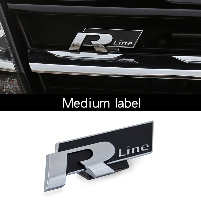 For the Volkswagen Tiguan MK2 network car stickers Rline logo car stickers 2017 2018 Tiguan tail label car stickers