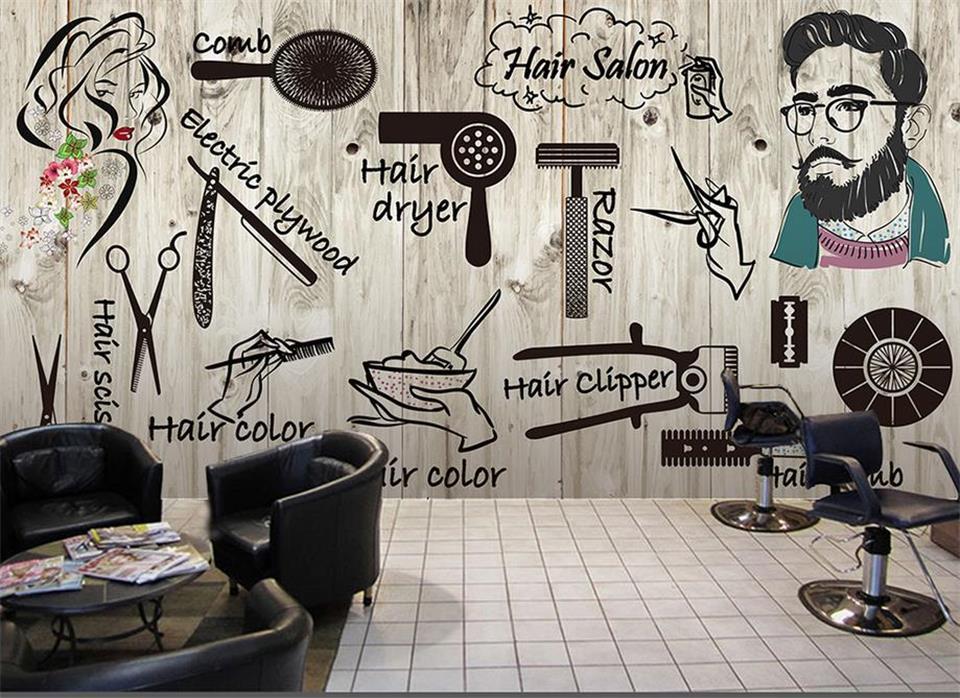 Online get cheap hair salon wall wallpaper for Salon wallpaper