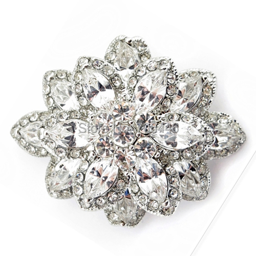 Marquiese Crystal and Rhinestone Diamante Wedding Flower - Նորաձև զարդեր - Լուսանկար 4