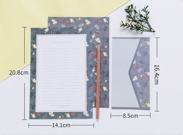 9pcs/lot Lovely Writing Stationery Paper with envelopes for invitation letter paper Envelope Seal Sticker School Office Supplies 2