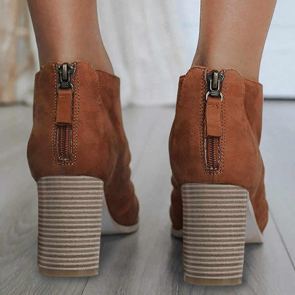 2019 yeni varış kadın bayanlar sandalet ayakkabı moda balık ağzı tasarım yarım çizmeler fermuar yüksek topuklu ayakkabı burnu açık platformu