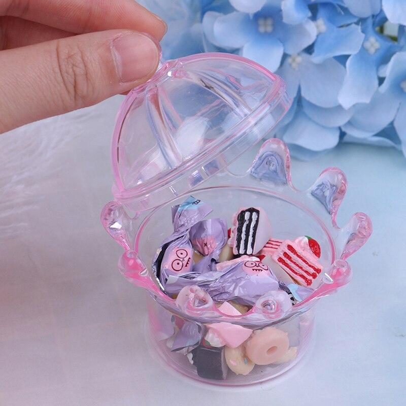 1pc 3d Miniature Food Candy Jar Dessert Diy Craft For Dollhouse Mini Dessert Pan Cake Stand Fruit Tray Doll Kitchen Toys