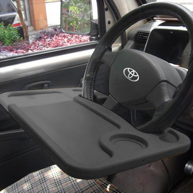 1pcs X Portable Car Laptop Eating Steering Wheel Desk Multi Purpose Travel Tray