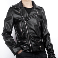 2016 Zipper Cotton New Real Standard Leather Jacket Men Ceket Fashion Custom Simple Retro Punk Motorcycle Jackets For In Europe