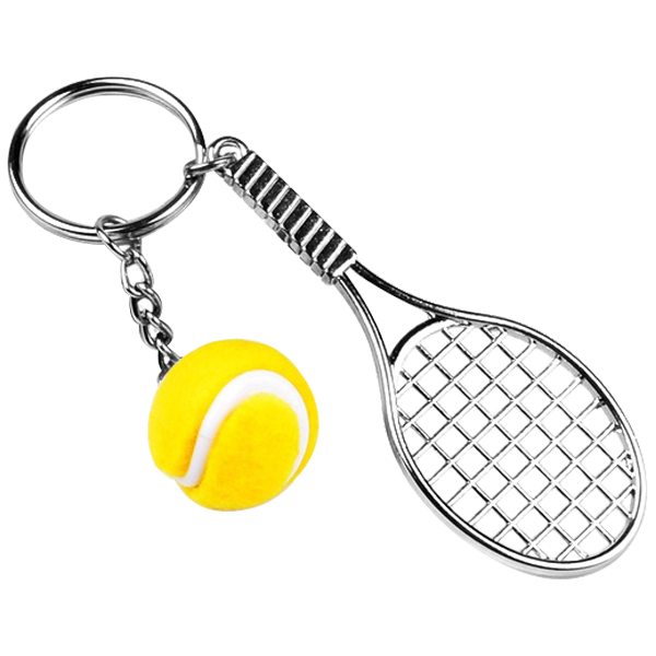 Hot Sale Creative Personality Simulation Tennis Ball Keychain Key Ring Handag Pendant Accessory For Women Men Six Colors
