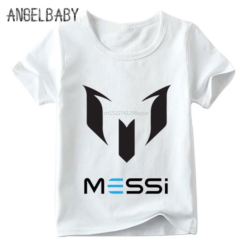 Children Messi Letter Logo Print T Shirt Boys And Girls Summer Casual Tops Kid Soft White T-shirt,ooo2218
