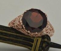 Free shipping exclusive custom processing fashion luxury elegant lady wedding 14 k rose gold natural garnet rings