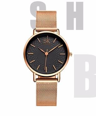 SK Women New Gold Simulated ceramics Design Bracelet Fashion Style Watches Women's Quartz Colck Watch Ladies Quartz-Wristwatches