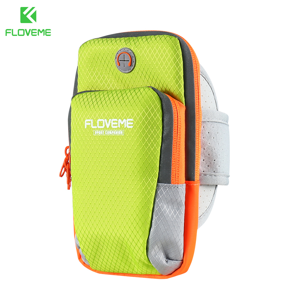 FLOVEME Arm Phone band Universal For Size Below 6 inch Sport Running Bag For iPhone 7 6 Plus For Samsung S8 S7 Note 5 Pouch Bag