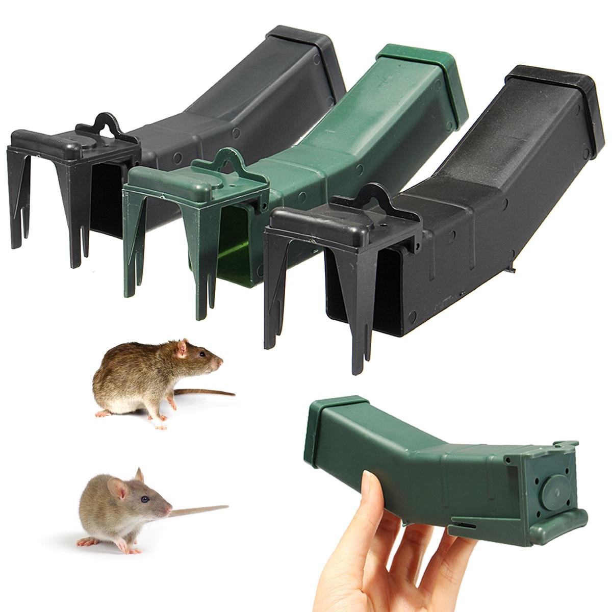 Дома крысоловку многоразовые Мышь ловушка мышеловка Поймать приманка захвата гуманным мыши грызунов хомяк клетка вредителей Управление