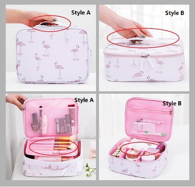 JIARUO Ladies Travel Women Make up Makeup Organizer Bag Cosmetic Bag Toiletry Travel Kits beautician Storage bag large capacity