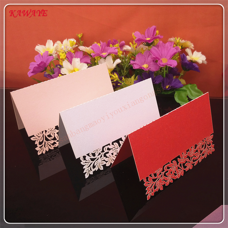 50Pcs Laser Cut Name Card Seats Name Table Place Card Decoration Wedding Party Favors Decoration Name Table Cards 7ZZ30