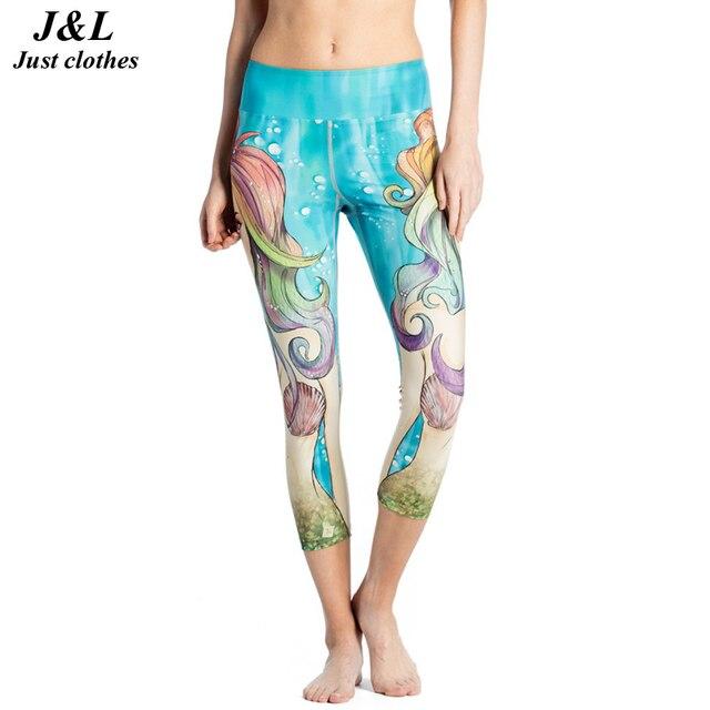 JLZLSHONGLE 3D Print Sexy Women Short Leggings Girl Corsair Butterfly Printed Fitness Leggings Jeggings 9 Styles Capri Pants